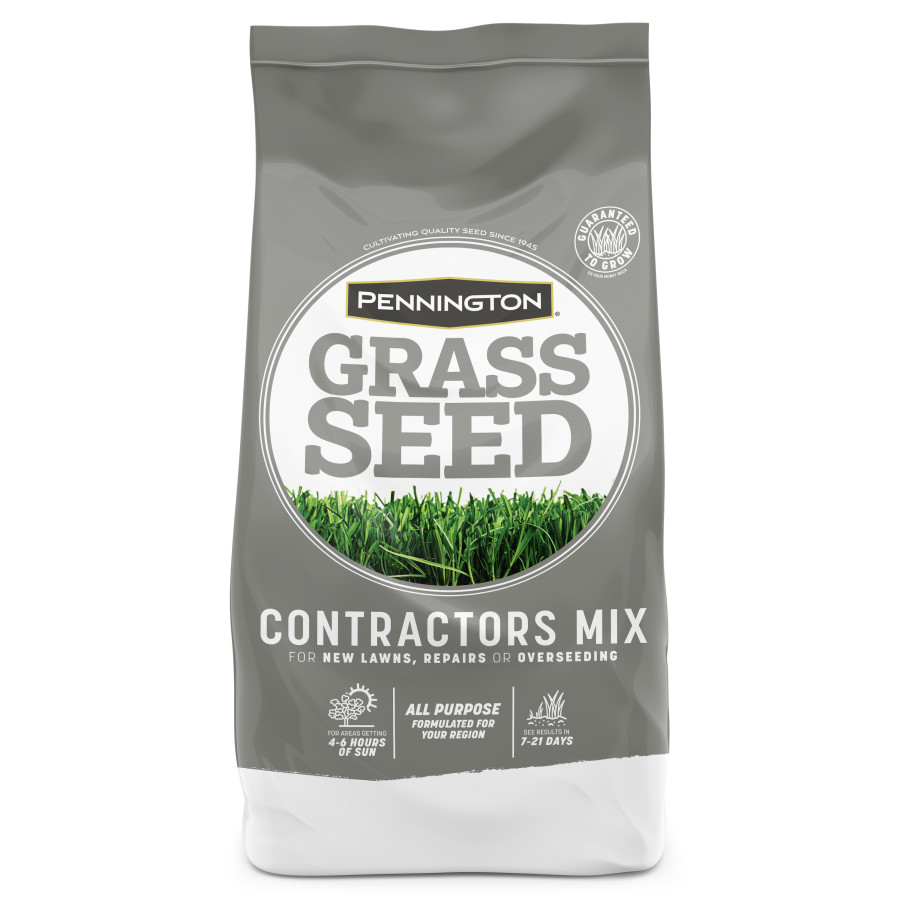 Pennington Contractor's Mix Grass Seed Mix Coated Central Pro Contractors 1ea/20 lb