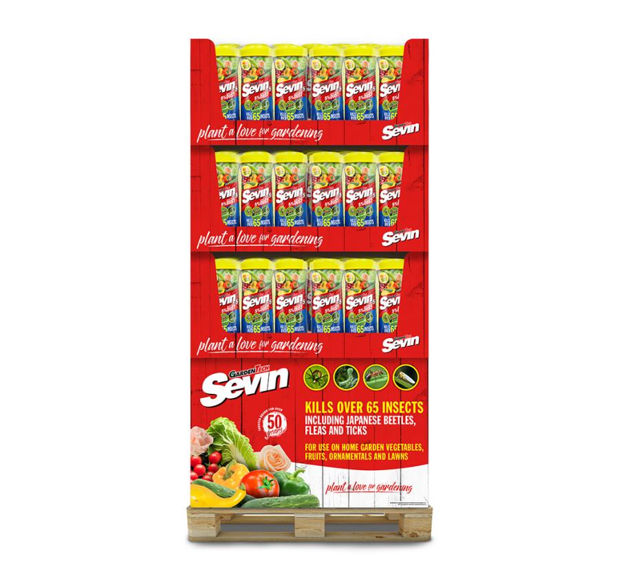 Sevin 5% Dust Insect Killer Shaker Bottle Quarter Pallet 36ea/3 pk 1 lb