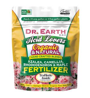 Dr. Earth Acid Lovers Premium Azalea, Camellia, Rhododendon and Maple Fertilizer 3-4-3 Standard 12ea/1 lb