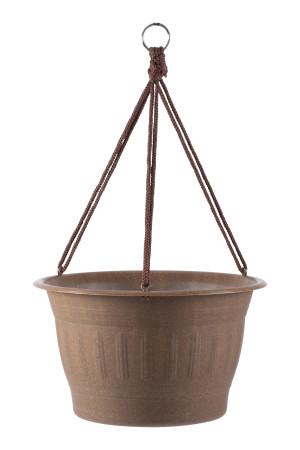 Bloem Hanging Basket Wood Resin Dark Earth 12ea/12 in