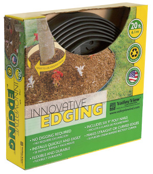 Valley View Innovative Edge with Poly Nails Black 8ea/1.5 In X 20 ft