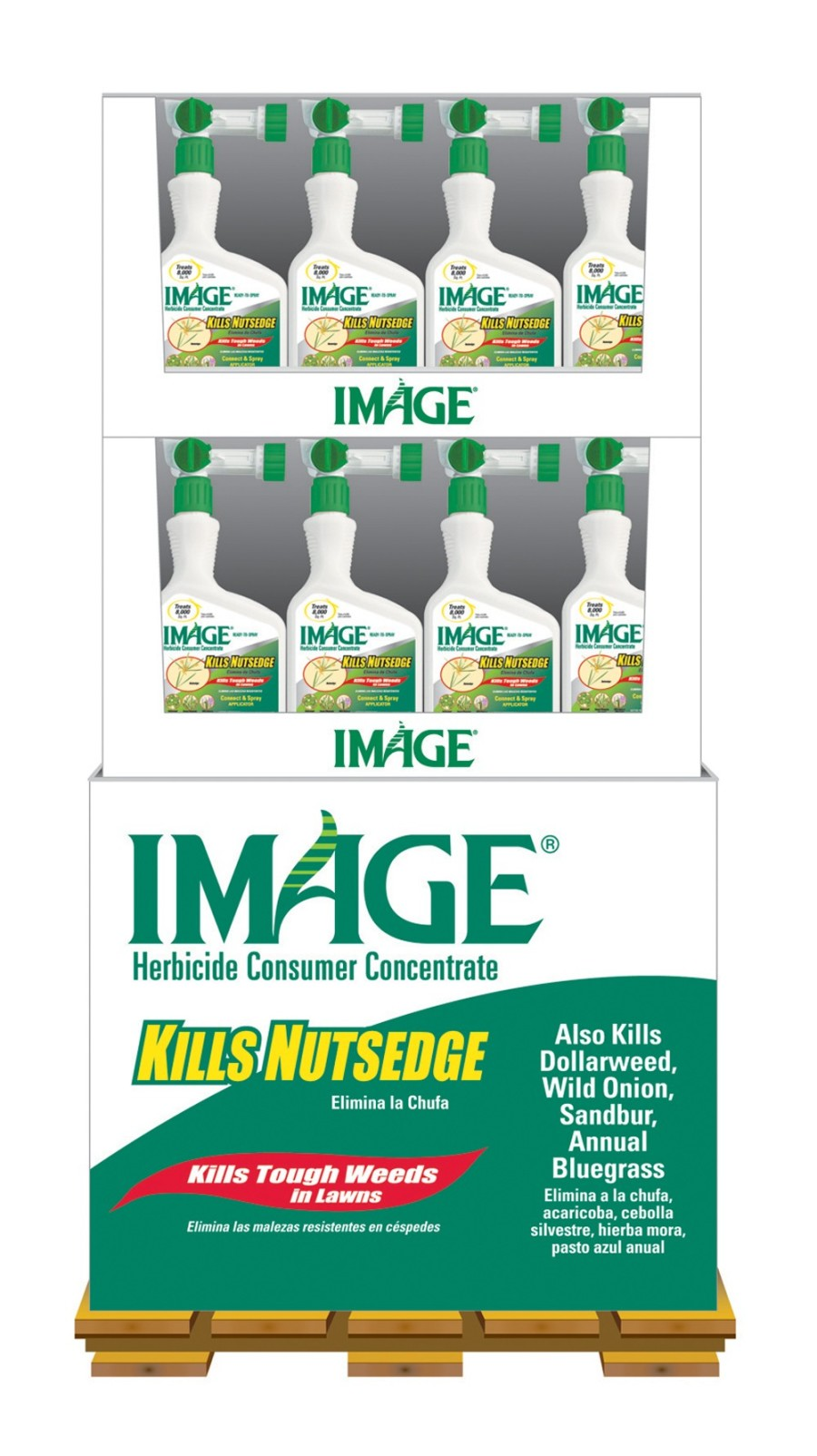 Image Kills Nutsedge & Weeds Lawn Herbicide Ready to Spray Mini Pallet Display 48ea/32 oz