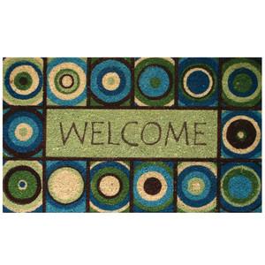 Robert Allen Mat Welcome Circles 5ea/18Inx30 in