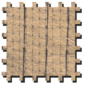 Erosion Tech ETC-100 Erosion Control Blanket 100% Coconut Black 1ea/7.5Ftx112.5 ft