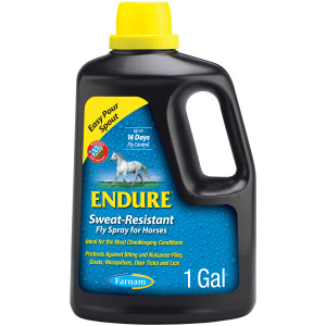 Farnam Endure Sweat-Resistant Fly Spray for Horses, 14-day Long Lasting Protection, 4ea/128 oz