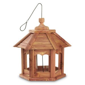 Pennington Cedar Gazebo Bird Feeder Red, Brown 2ea/12.75 X 12.75 X 12.50