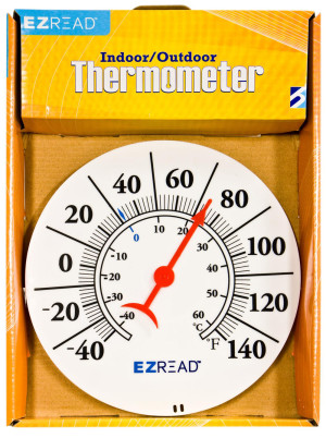 E-Z Read Dial Thermometer Indoor/Outdoor White 5ea/8 in