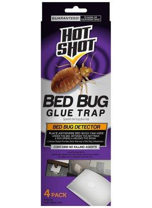 Hot Shot Bed Bug Glue Trap 12ea/4 ct