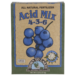 Down To Earth Acid Mix Natural Fertilizer 4-3-6 6ea/5 lb