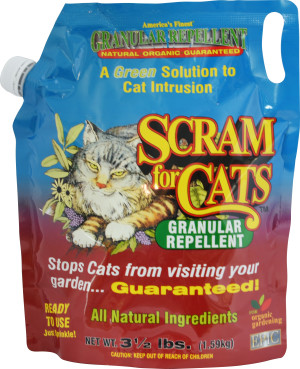 Enviro Scram for Cats Granular Repellent Quarter Pallet Display 6ea/3.5 lb
