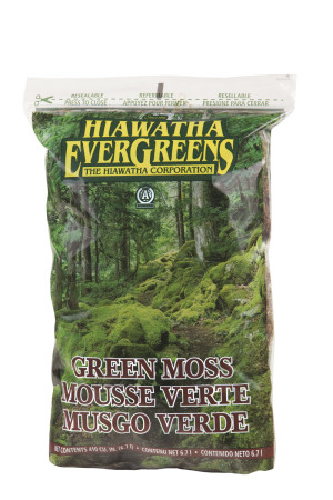 Hiawatha Evergreens Green Decorator Moss in Resealable Bags Green 12ea/410Cuin