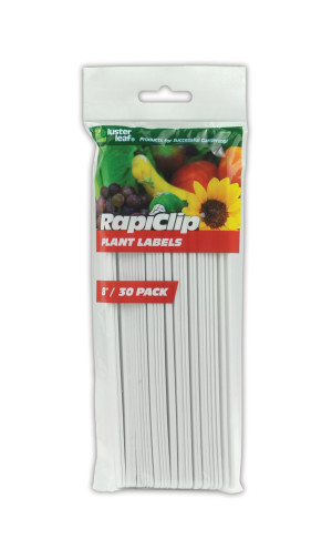 Luster Leaf Rapiclip Plant Labels White 12ea/30Pk 8 in
