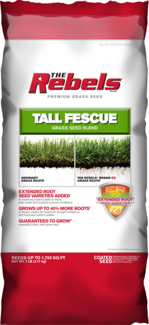 The Rebels Tall Fescue Grass Seed Blend Powder Coated 4ea/7 lb