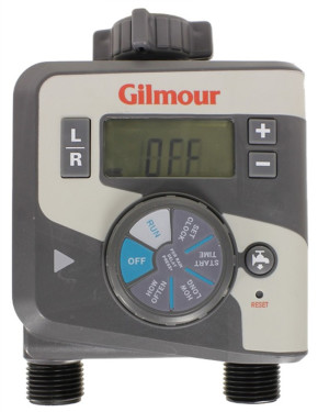 Gilmour Electronic Water Timer Dual Outlet Grey 3ea/2 In X 7.13 In X 9 in