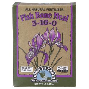 Down To Earth Fish Bone Meal Natural Fertilizer 3-16-0 12ea/Mini 1 lb