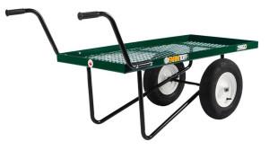 Millside Deck Push Cart with Flat Free Wheels Metal 1ea/24Inx48 in