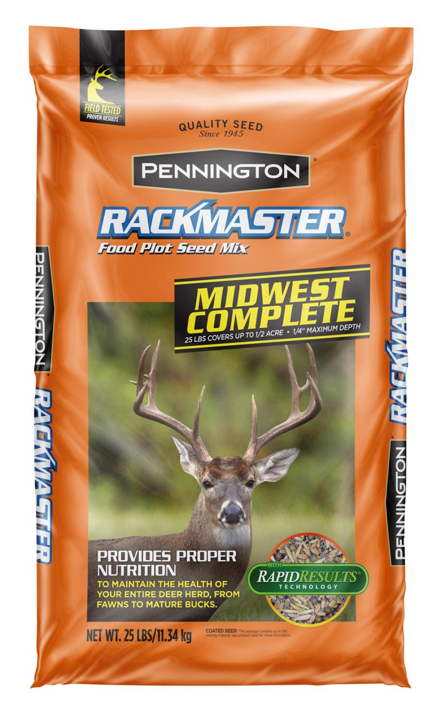 Pennington Rackmaster Midwest Complete Food Plot Seed Mix 50ea/25 lb
