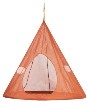FlowerHouse TearDrop Hanging Chair Orange 1ea/60Inx60 in