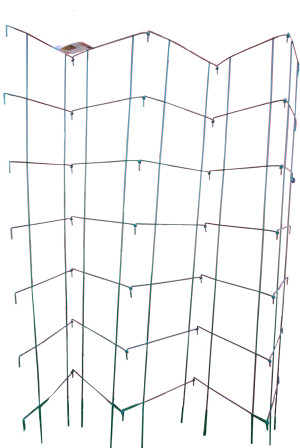 Midwest Wire Works Collapsible 5 Panel Pea Fence 10-Leg Green 4ea/90In 58 in