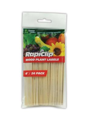 Luster Leaf Rapiclip Wood Plant Labels Brown 12ea/24 pk, 6 in