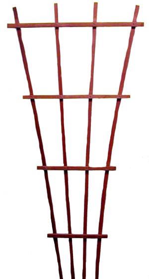 JJ Roberts California Trellis Redwood Fan Trellis Fan Red 6ea/8 ft