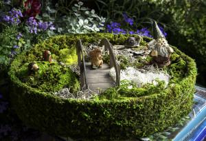 Supermoss Fairy Round Garden Basket Fresh Green 8ea/15 in