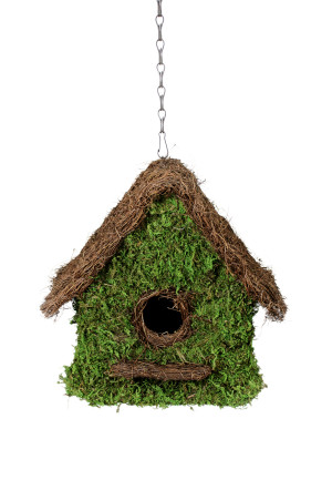 Supermoss Maison Woven Birdhouse Fresh Green 6ea/11Inx12 in