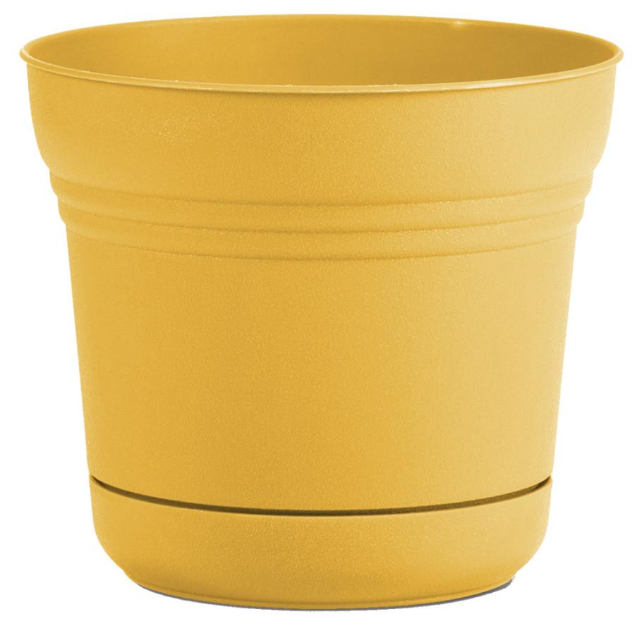Bloem Saturn Planter Earthy Yellow 6ea/10 in