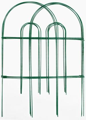 Garden Zone Gard'n Border Round Folding Fence Green 10ea/24Inx10 ft