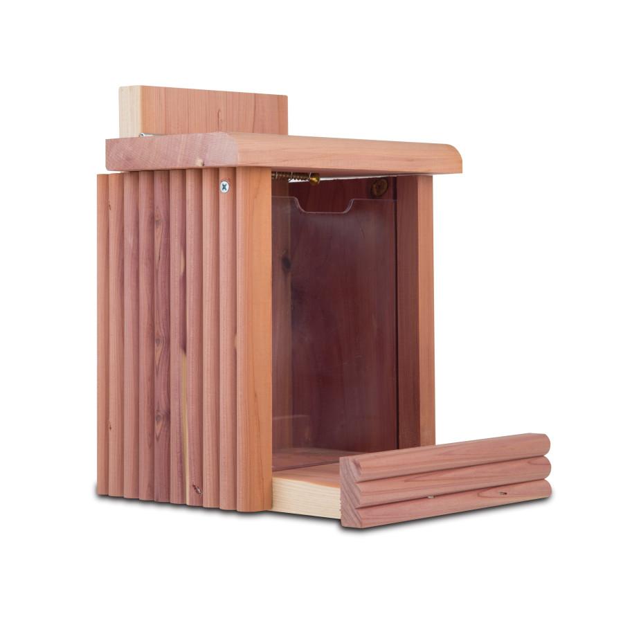 Pennington Cedar Squirrel Snacker® Squirrel or Bird Feeder Brown 2ea/7 X 7.75 X 9 in