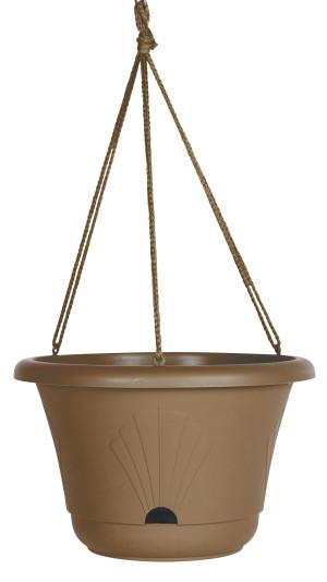 Bloem Lucca Hanging Basket Planter Chocolate 10ea/13 in