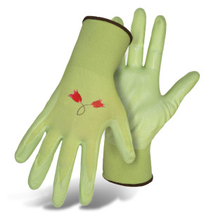 Boss Ladies Nylon Knit Nitrile Palm Glove Assorted 12ea/Large