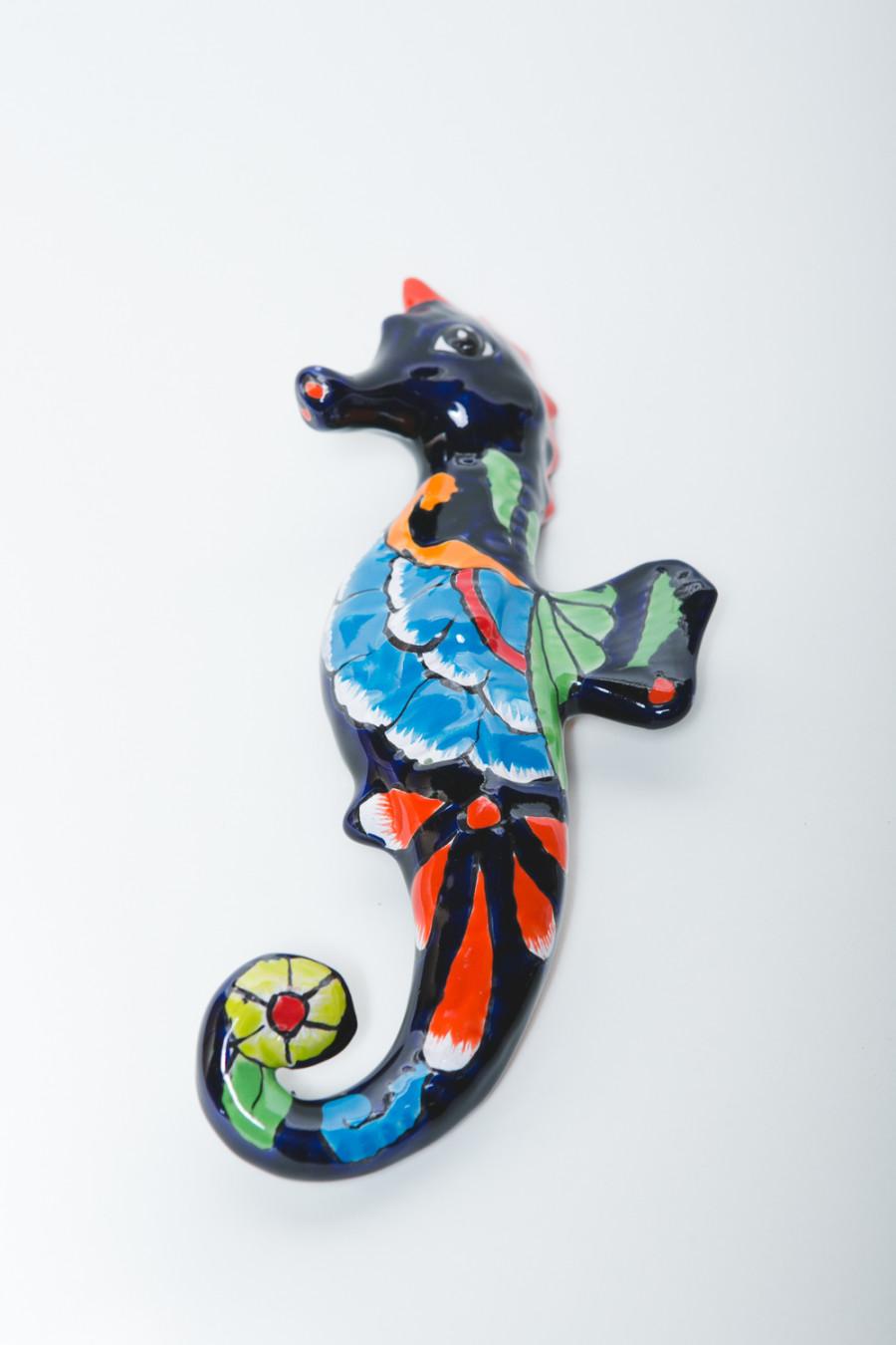 Talavera Seahorse Hanger Multi-Color 6ea