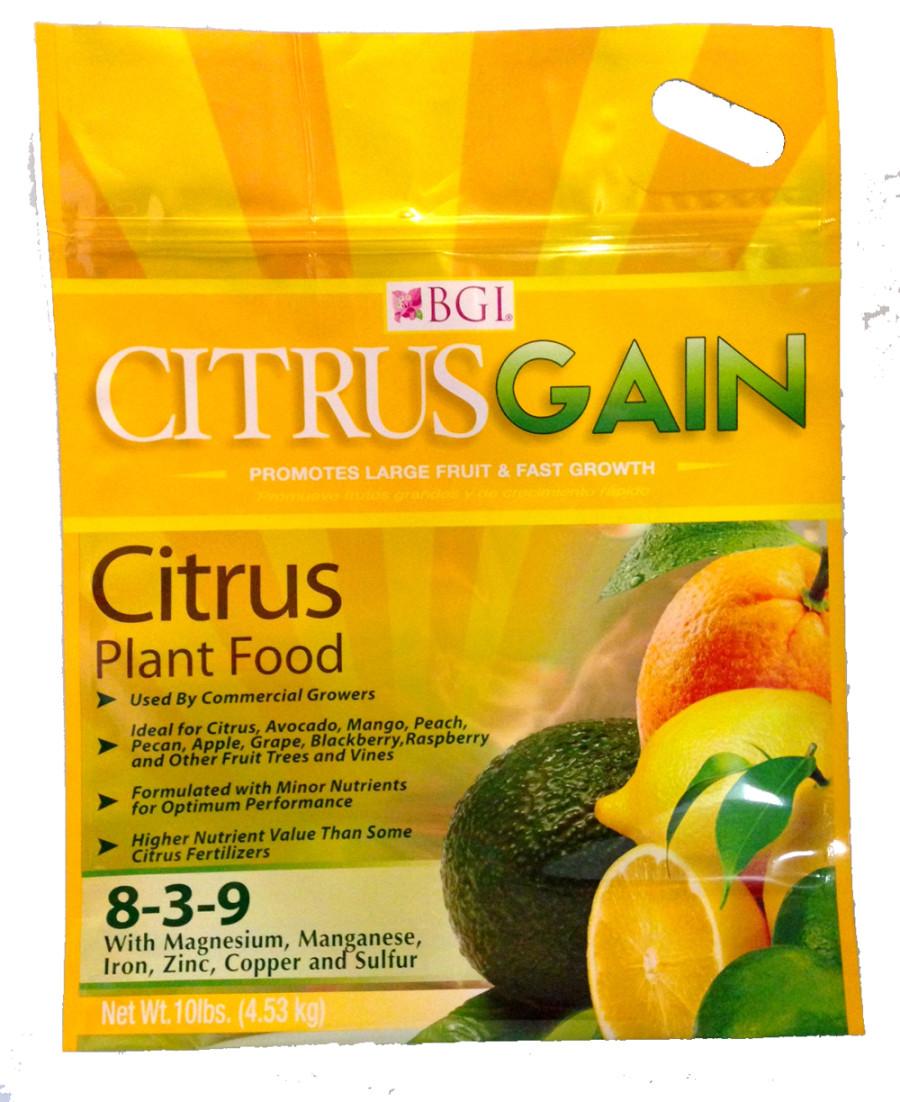 BGI CitrusGain Citrus Plant Food Fertilizer 6ea/8-3-9 10 lb