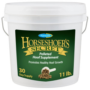 Farnam Horseshoer's Secret Pelleted Hoof Supplement for Horses, Promotes healthy hoof growth, 1ea/11 lb, 30 Day Supply