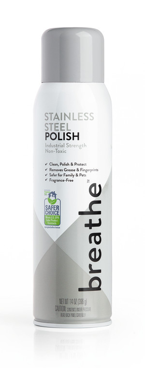 Breathe Stainless Steel Polish Cleaner 6ea/14 oz