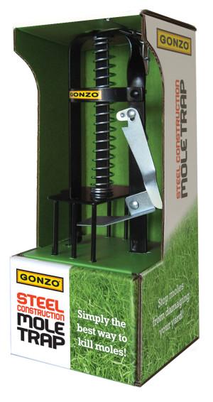 Gonzo Steel Construction Mole Trap Black 6ea/13.55 In X 6.0 In X 4.6 in