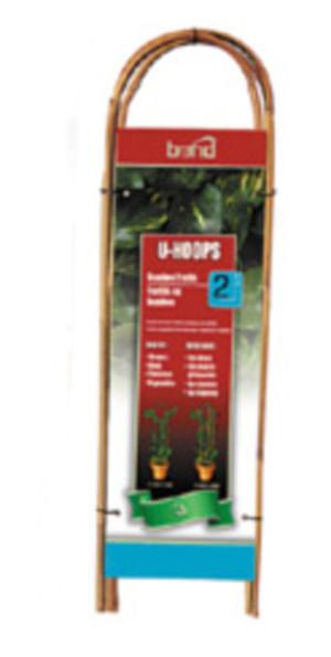 Bond Packaged Bamboo U-Hoops Trellis U Hoop Brown 15ea/2 ft