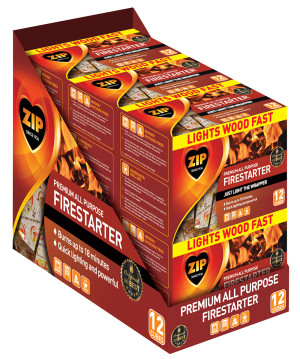Zip Premium All Purpose Firestarter Cubes 6ea/12 ct