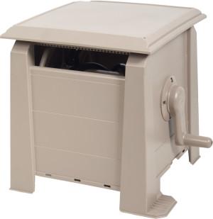 Ames Hose Box 160ft Poly Cabinet Tan 1ea