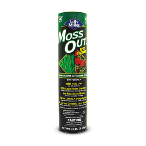 Lilly Miller Moss Out! Spot Treater For Lawns & Flower Beds Canister 12ea/3 lb