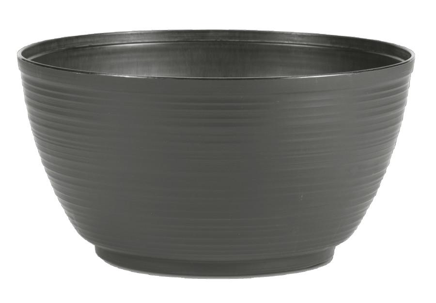 Bloem Plant Bowl Planter Charcoal 6ea/12 in