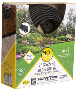 Valley View Innovative Edging Tall Coiled with Poly Nails Black 4ea/3 In X 20 ft