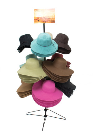 Goldcoast Sunwear Womens Sun Protection Hat 60 Piece Display Assorted 1ea/One Size