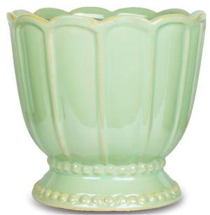 New England Pottery Tulip Pedestal Ceramic Pot Pedestal Pale Mint 2ea/9 in