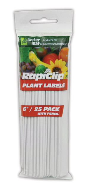 Luster Leaf Rapiclip Plant Labels with Pencil White 12ea/25 pk, 6 in