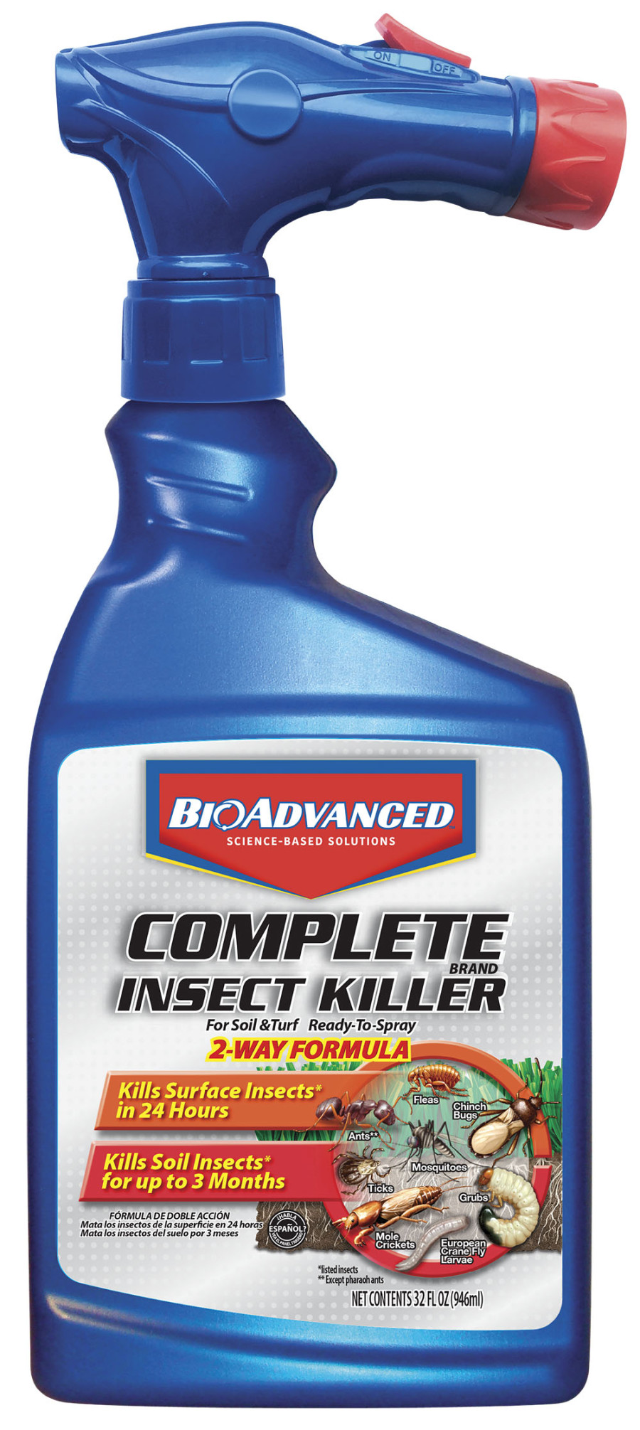 BioAdvanced Complete Insect Killer for Soil & Turf Ready to Spray 8ea/32 oz