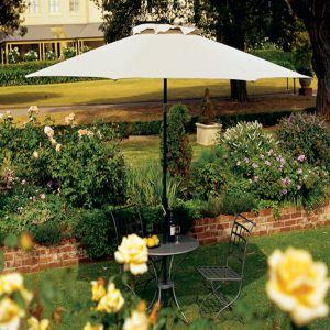 Coolaroo Round Umbrella Smoke 1ea/11 ft