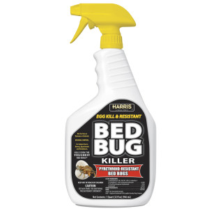 Harris Bed Bug Killer Egg Kill and Pyrethroid-Resistant Ready to Use 6ea/32 oz