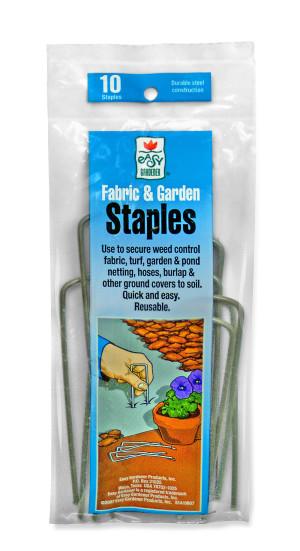 Easy Gardener Fabric & Garden Staples Weed Control & Netting Steel Steel Silver 75ea/10 pk